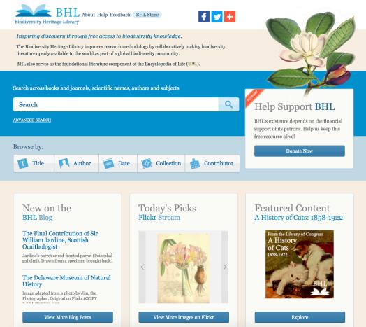 1 BHL Homepage
