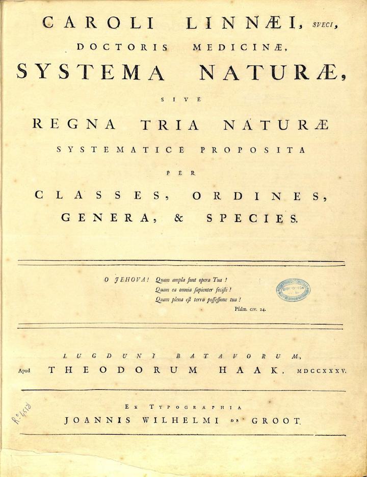 1 Systema Naturae